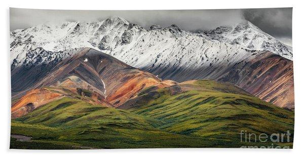 Polychrome Mountain, Denali Np, Alaska Bath Towel