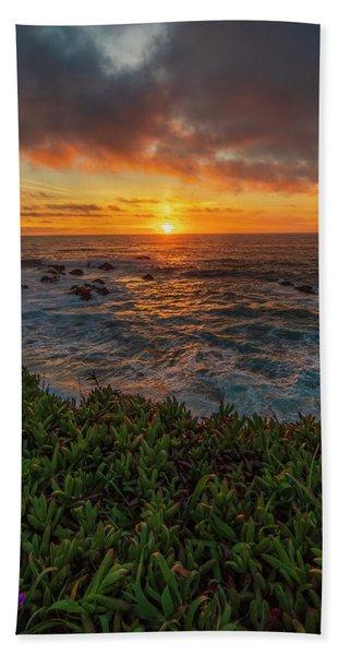 Pomo Bluffs Sunset - 2 Hand Towel