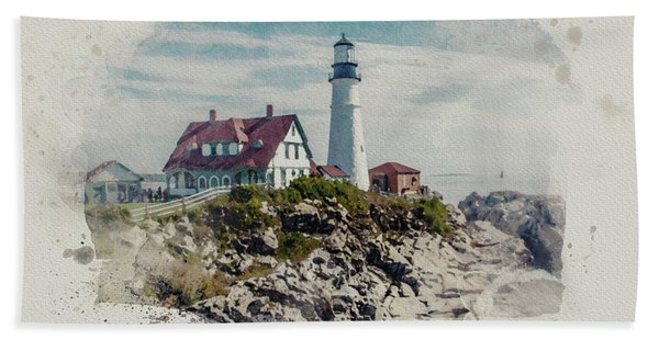 Portland Head Lighthouse Cape Elizabeth Maine Bath Towel