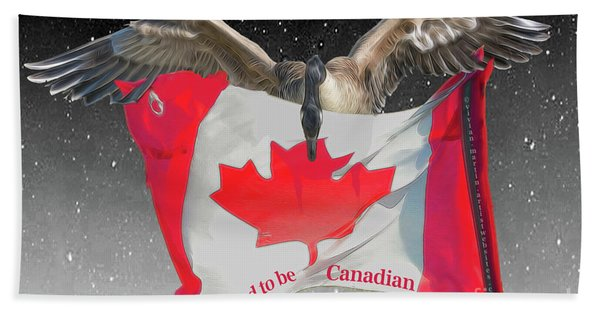 Proud To Be Canadian Hand Towel