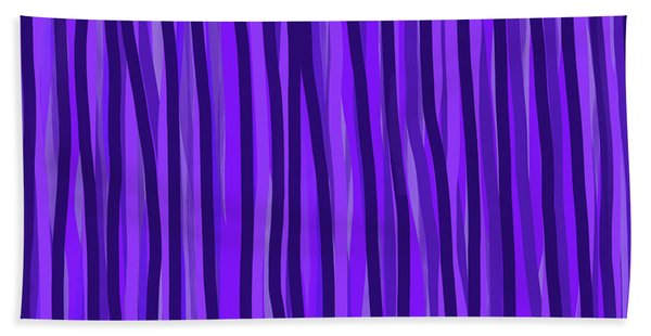 Purple Lines Bath Towel