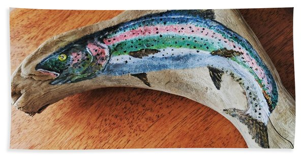 Rainbow Trout #1 Bath Towel