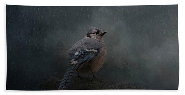 Rainy Day Blues  Bath Towel