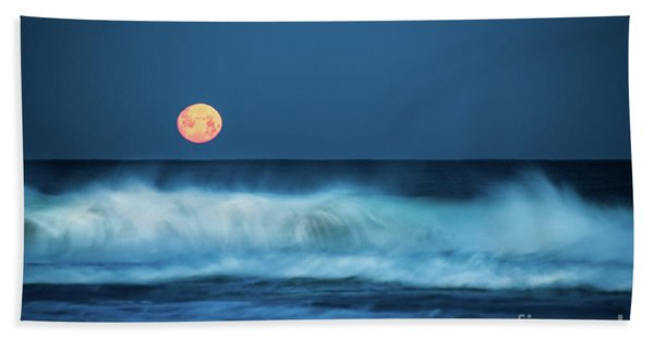 Red Moon Hand Towel