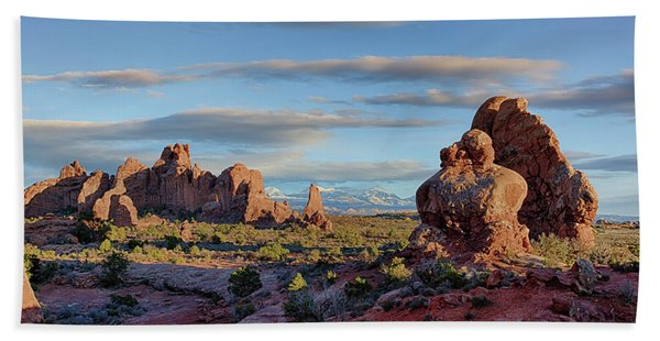 Red Rock Formations Arches National Park  Bath Towel