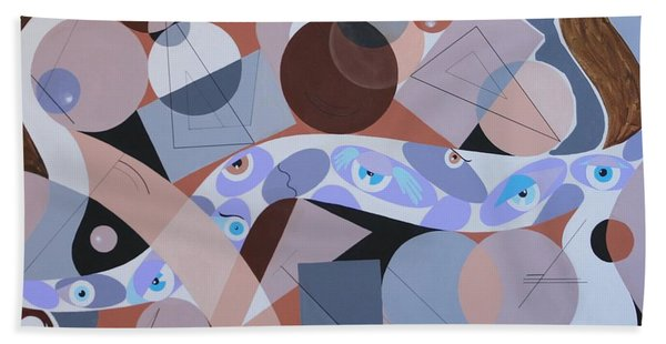 River Of Eyes Hand Towel