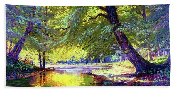 River Of Gold Hand Towel