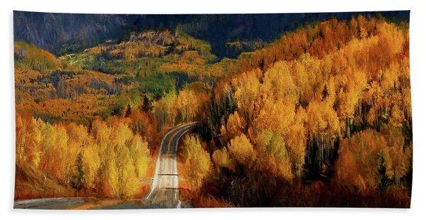 Road Less Traveled Hand Towel