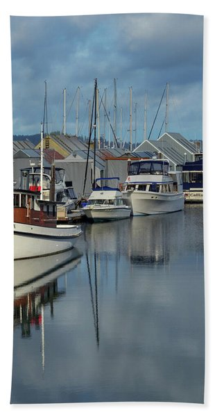 Sailboat Reflection Bath Towel