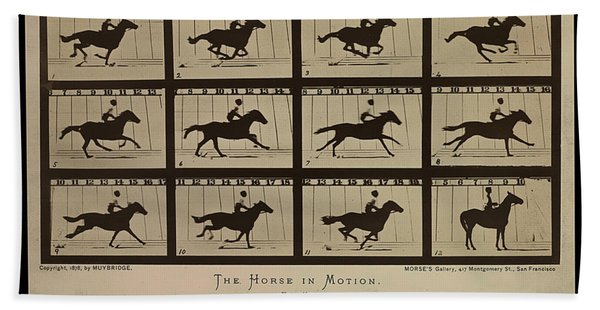 Sallie Gardner At A Gallop - Horse In Motion Hand Towel