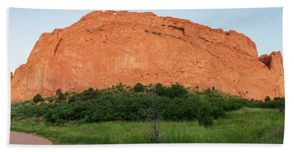 Sandstone Rock Formation Called The Kissing Camels In Colorado Hand Towel