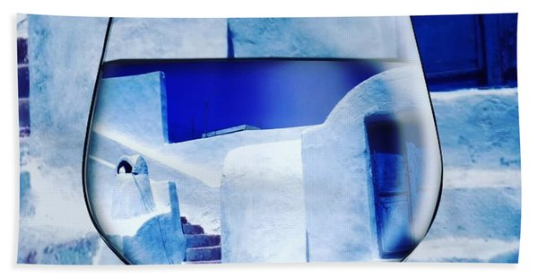 Bath Towel featuring the photograph Santorini Greece Evening  by Colette V Hera Guggenheim