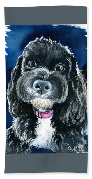 Scout - Cavoodle Dog Painting Bath Towel