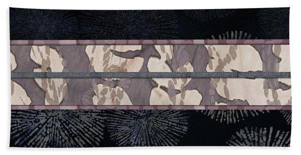 Sea Urchin Contrast Obi Print Bath Towel