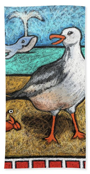 Seagull And Friends Hand Towel