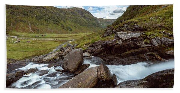 Sendefossen, Norway Hand Towel