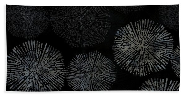 Shibori Sea Urchin Burst Pattern Hand Towel