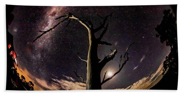 Shooting Stars And Milky Way Hand Towel