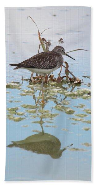 Shorebird Reflection Bath Towel