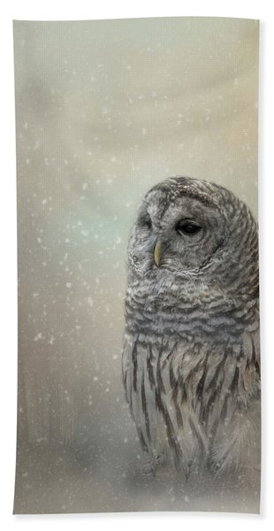 Silent Snow Fall Hand Towel