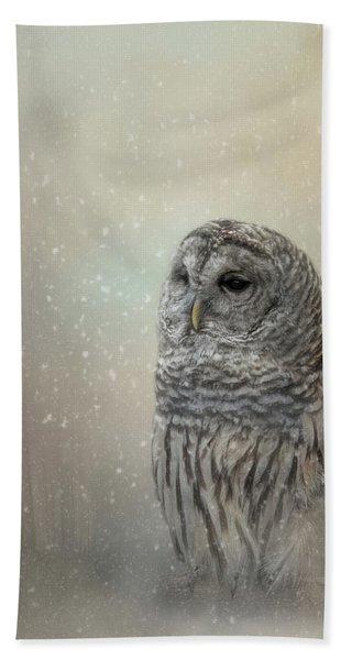 Silent Snow Fall Bath Towel