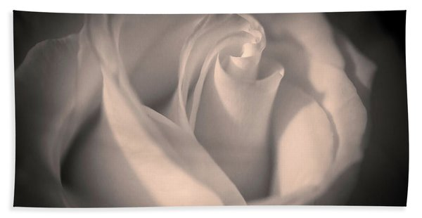 Silky Pastel Rose Hand Towel