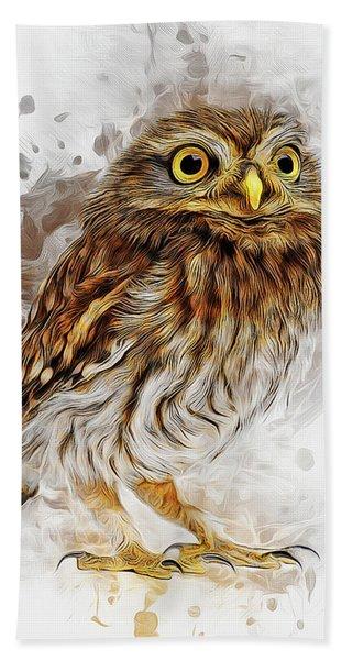 Snow Owl Hand Towel