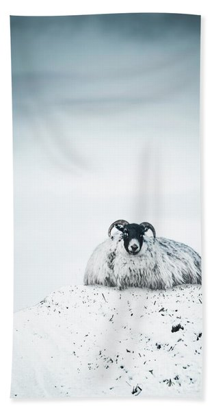 Snow Sheep Bath Towel
