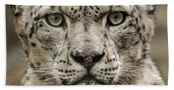 Snowleopardfacial Hand Towel
