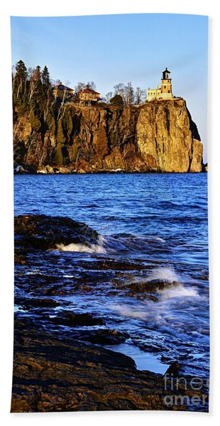 Split Rock Lighthouse Hand Towel