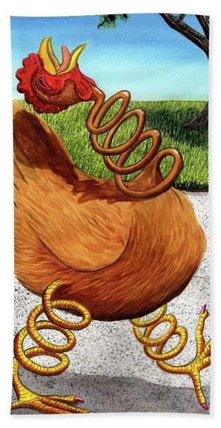 Spring Chicken Hand Towel