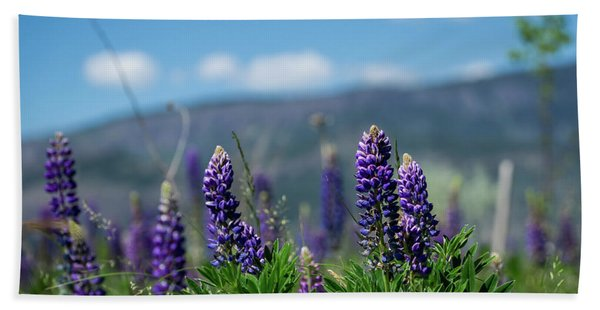 Spring Lupines Hand Towel
