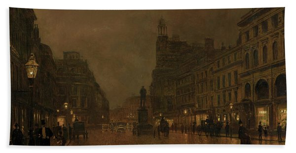 St Anne's Square And Exchange Manchester Hand Towel