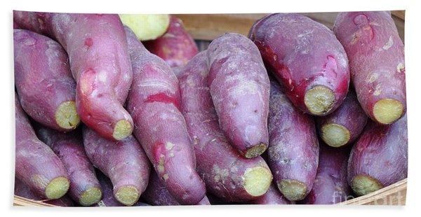 Steamed Yams And Sweet Potatoes Hand Towel