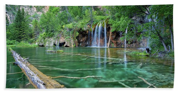 Submerged Log, Hanging Lake Colorado Bath Towel