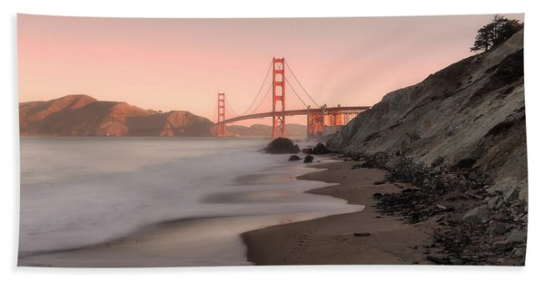 Sunrise In San Fransisco- Hand Towel