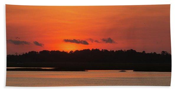 Sunrise Over Drunken Jack Island Hand Towel
