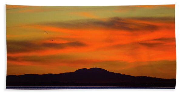 Sunrise Over Santa Monica Bay Hand Towel