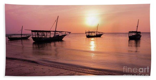 Sunset In Zanzibar Bath Towel