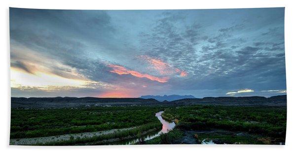 Sunset On The Rio Grande Hand Towel