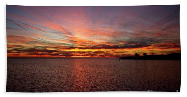 Sunset Over Canada Bath Towel