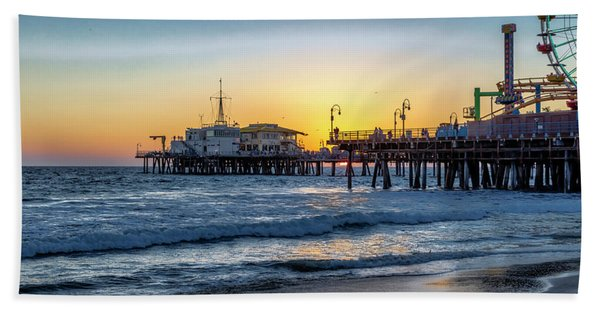 Sunset Under The Pier Hand Towel