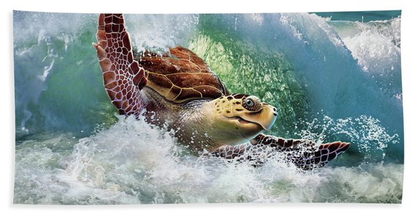 Surf To The Turf Hand Towel
