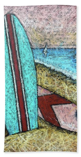 Surfing And Sailing Hand Towel