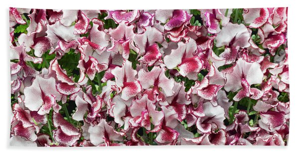 Sweet Pea Lisa Marie Flowers Bath Towel