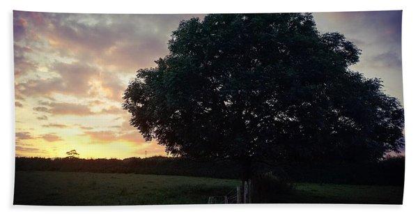 Symme Tree Sunrise Hand Towel