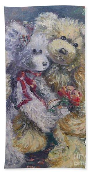 Teddy Bear Honeymooon Hand Towel