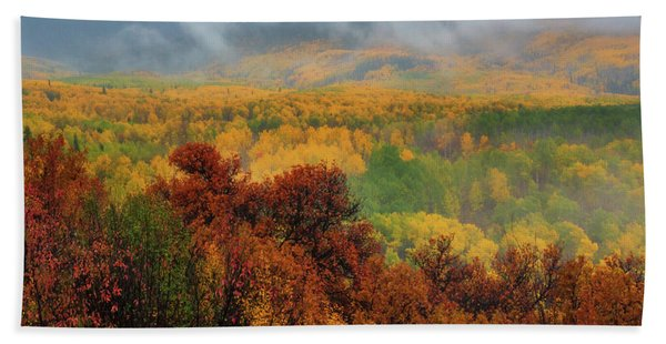 Hand Towel featuring the photograph The Feeling Of Fall by John De Bord