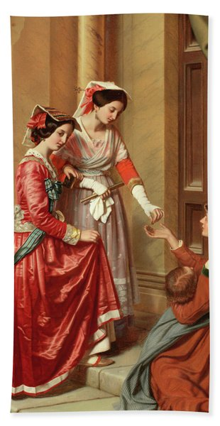 The Giving Of Alms Hand Towel