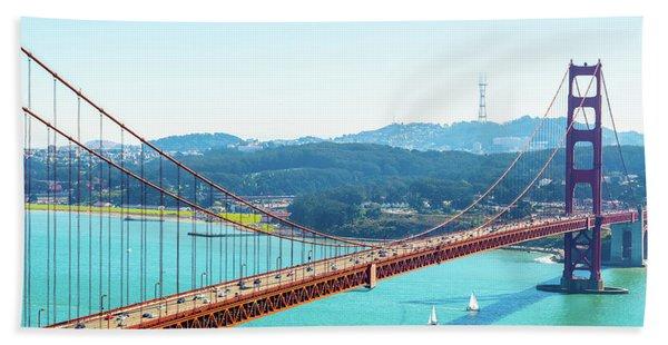 The Golden Gate Bridge I Bath Towel